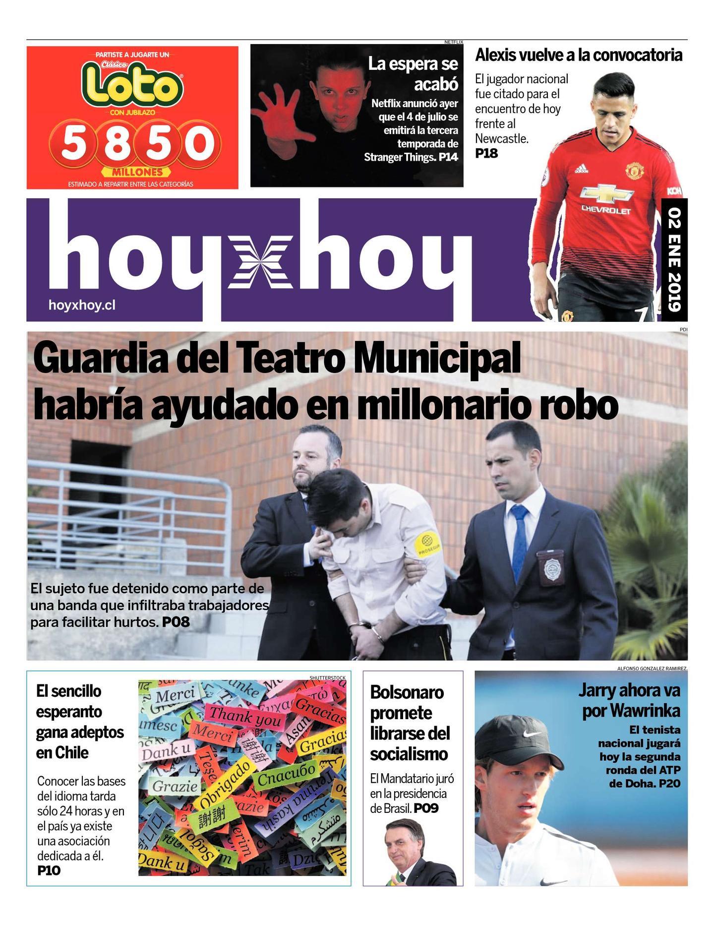 Página 1 | hoyxhoy cl - HoyxHoy, el diario que no tiene