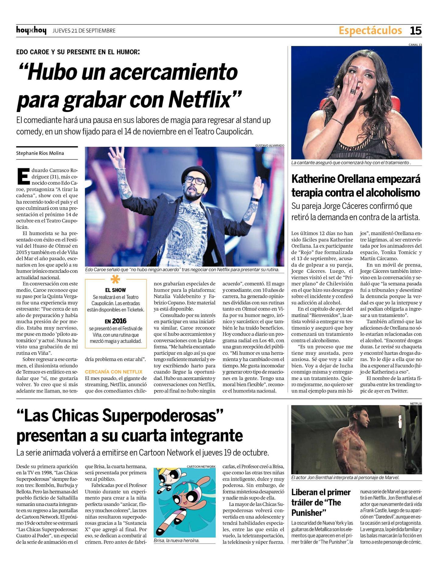 Página 15 | hoyxhoy.cl - HoyxHoy, el diario que no tiene precio ...