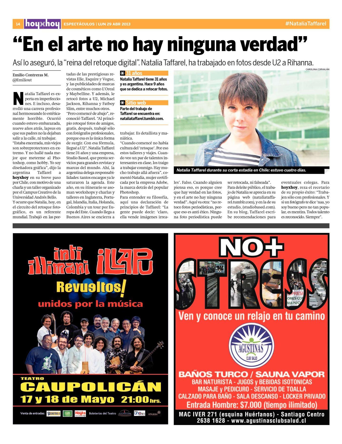 66777795e Página 14   hoyxhoy.cl - HoyxHoy, el diario que no tiene precio - Santiago,  Chile - 29.04.2013
