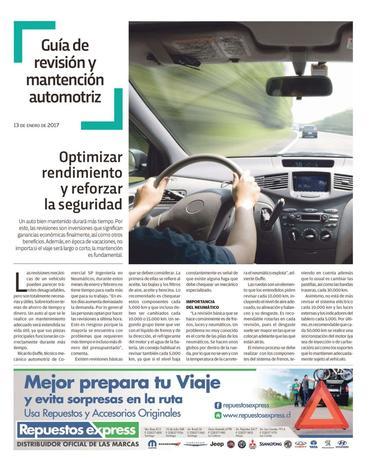 Guía de Revisión y Mantención Automotriz