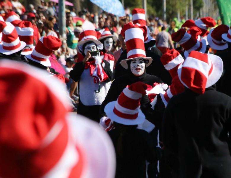 San Antonio Chile 24 de Enero 2016 Carnaval de Murgas y Comparsas Verano 2016 sector  Cerro Alegre  . Foto: Cristian Socrates Orellan.