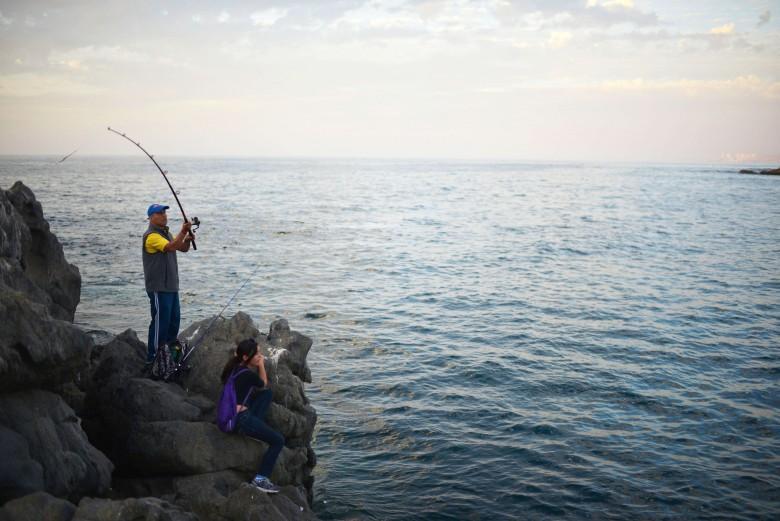Pescadores aficionados de Valparaíso.