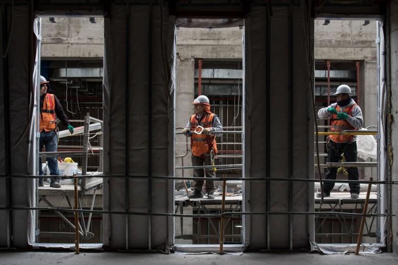 Avances de los trabajos del nuevo hospital regional de Antofagasta. Foto: Matías Quilodrán.
