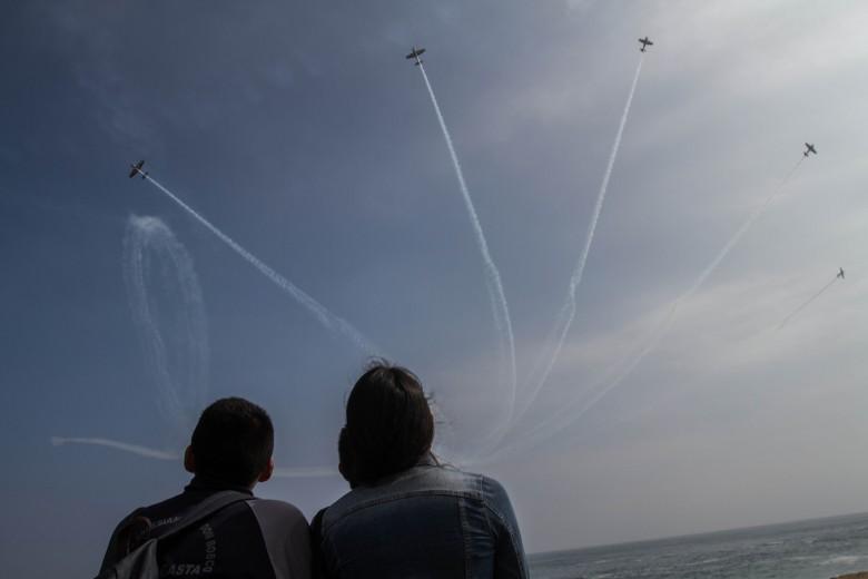 Exhibición de La Escuadrilla de Alta Acrobacia Halcones de las fuerzas aéreas de Chile. Fotos: Luciano Paiva Campos