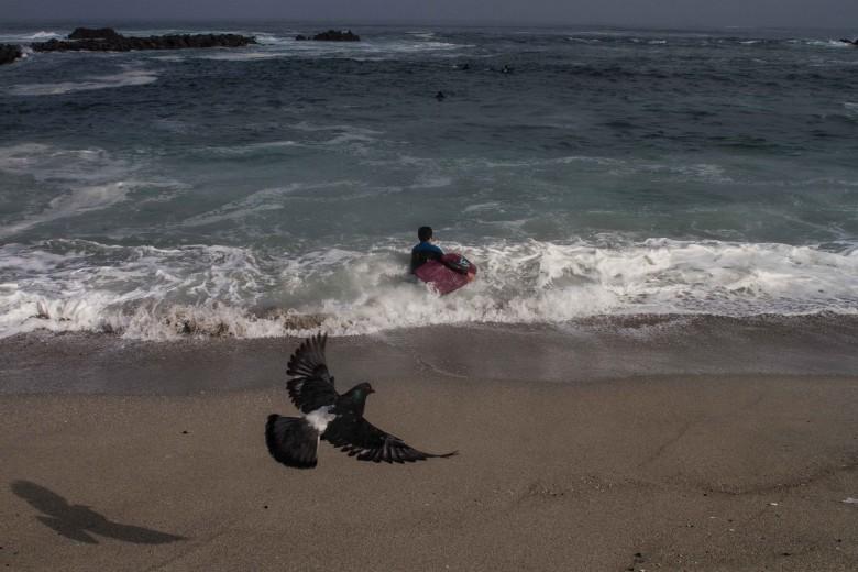 Nuevo proyecto de playa artificial se llevara a cabo a un costado de playa paraíso en Antofagasta. Fotos: Luciano Paiva Campos