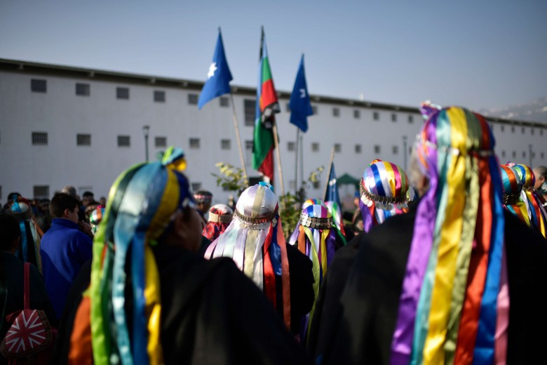 Valparaíso. We tripantu, ceremonia del año nuevo mapuche celebrada en el Parque Cultural de Valparaíso. Foto: Raúl Goycoolea