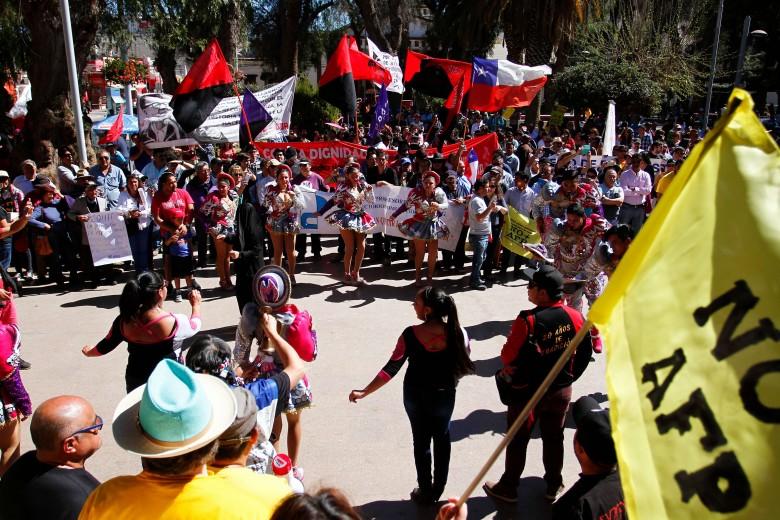 Marcha en contra de las AFP