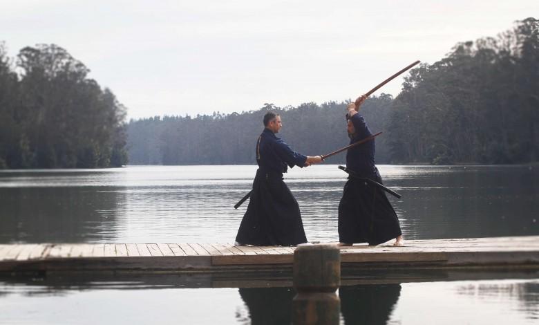 Esgrima Japones en el tranque de Curauma.