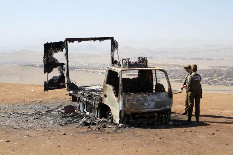 Hombre quema camión tras ser despedido