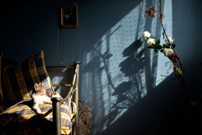 Viña del mar. Interior de casa en la toma Manuel Bustos. foto: Raúl Goycoolea.
