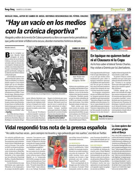 La cronica de hoy deportes