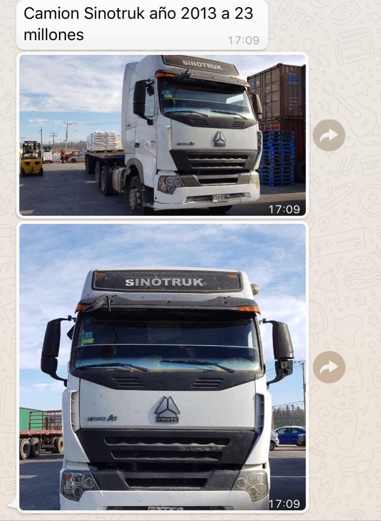 Vehículos Automotora Rodríguez Sinotruk TR 380 A7 2013
