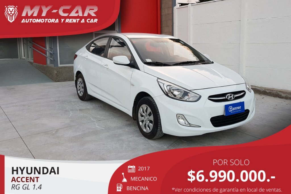 Autos My-Car Automotora y Rent a Car  HYUNDAI  ACCENT RB  2017