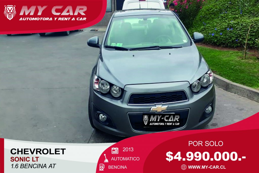 Autos My-Car Automotora y Rent a Car  CHEVROLET  SONIC  2013