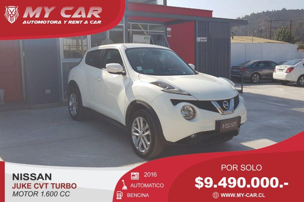 Autos My-Car Automotora y Rent a Car  NISSAN   JUKE  2016