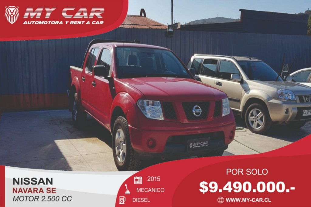 Camionetas My-Car Automotora y Rent a Car  NISSAN   NAVARA  2015