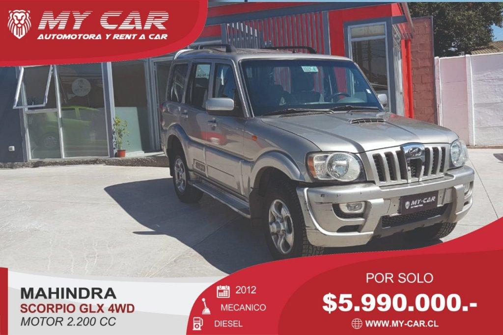 Camionetas My-Car Automotora y Rent a Car  MAHINDRA  SCORPIO  2012