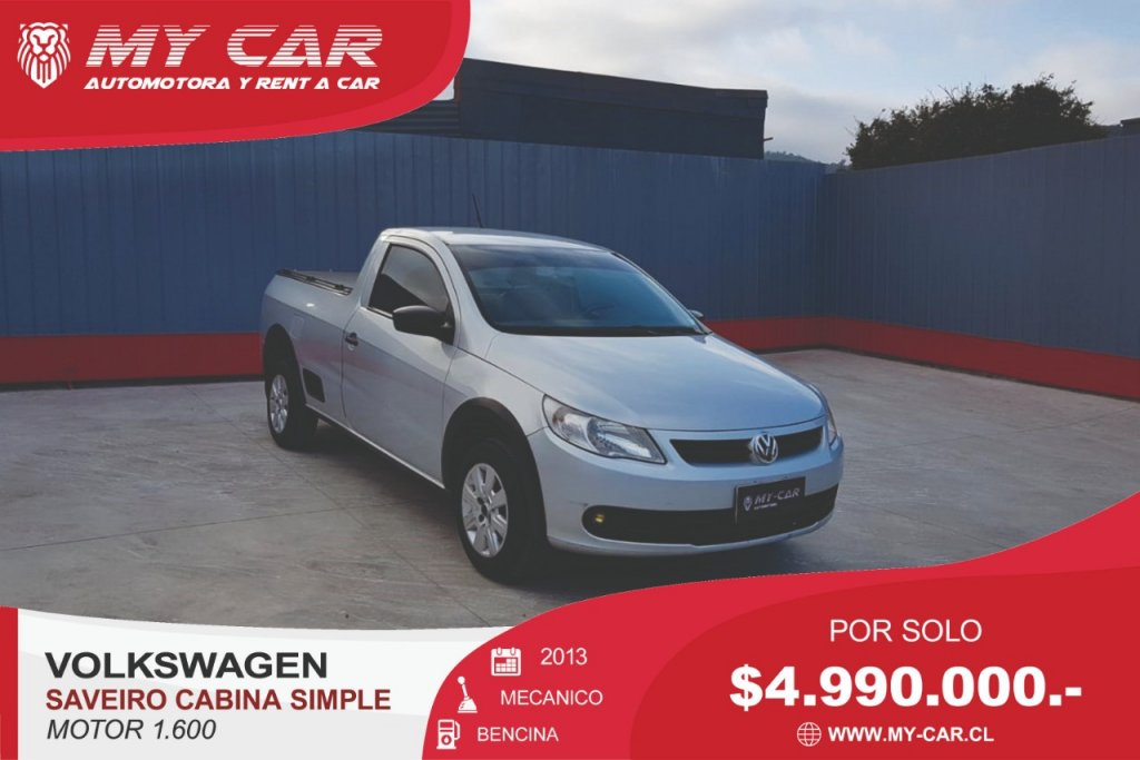 Camionetas My-Car Automotora y Rent a Car  VOLKSWAGEN  SAVEIRO 1.6  2013