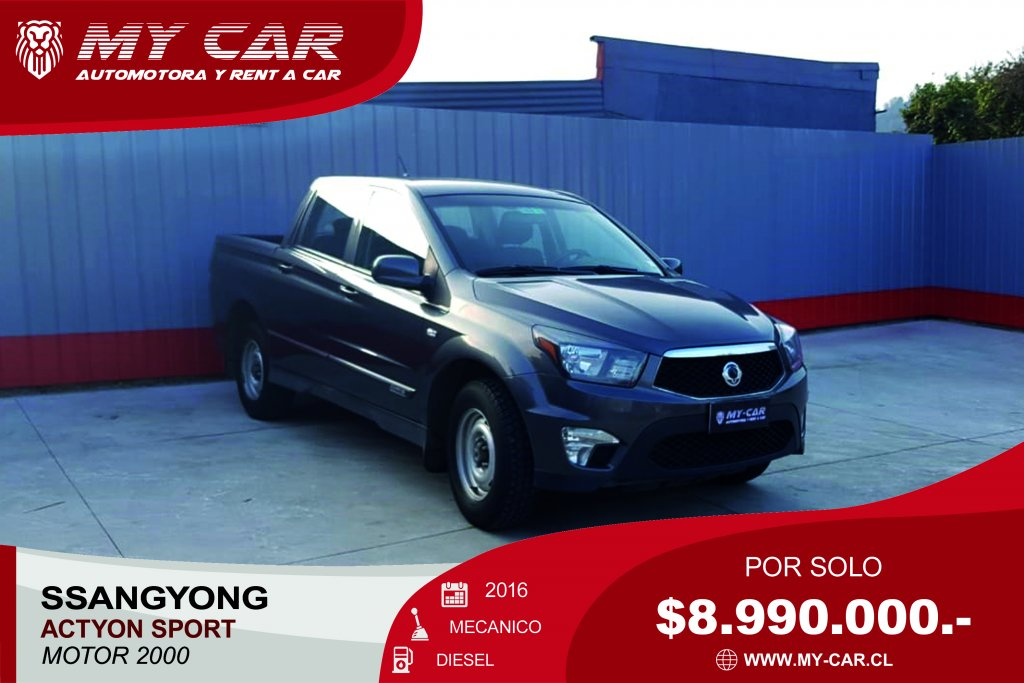 Camionetas My-Car Automotora y Rent a Car  SSANGYONG  ACTYON  2016