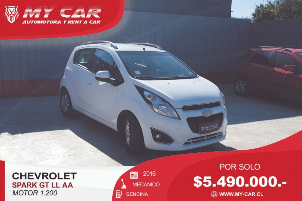 Autos My-Car Automotora y Rent a Car  CHEVROLET  SPARK GT  2016