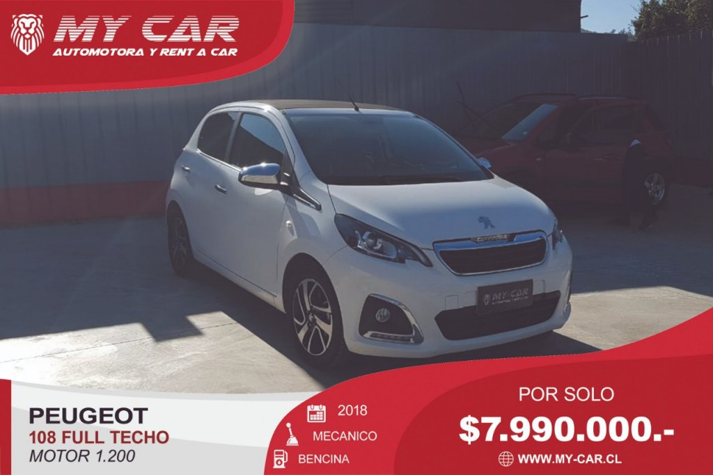 Autos My-Car Automotora y Rent a Car  PEUGEOT  108   2018