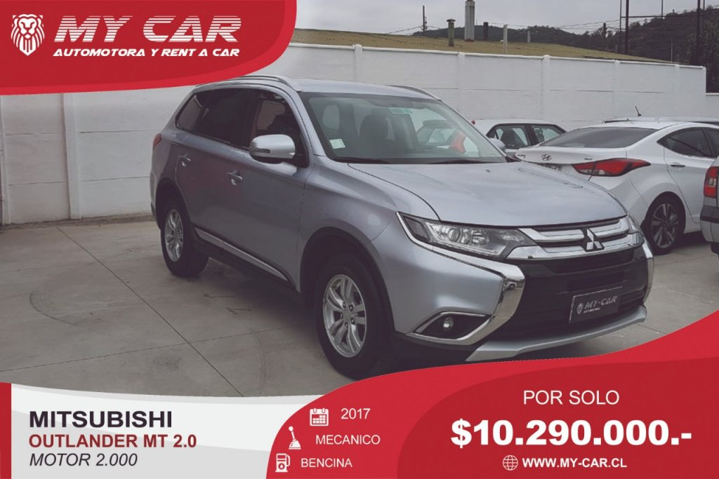 Camionetas My-Car Automotora y Rent a Car  MITSUBISHI  NEW OUTLANDER  2017